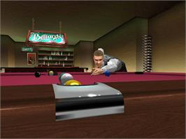 In game image of World Championship Snooker 2003 on the Microsoft Xbox.
