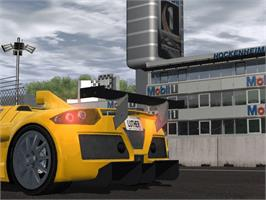 In game image of World Racing 2 on the Microsoft Xbox.