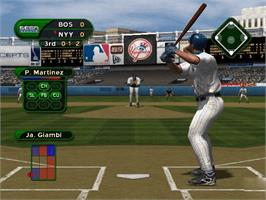 In game image of World Series Baseball on the Microsoft Xbox.