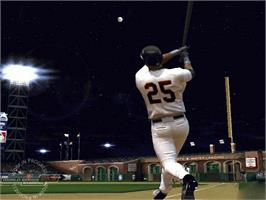 In game image of World Series Baseball 2K3 on the Microsoft Xbox.