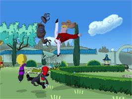 In game image of Xiaolin Showdown on the Microsoft Xbox.