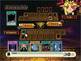 In game image of Yu-Gi-Oh!: The Dawn of Destiny on the Microsoft Xbox.