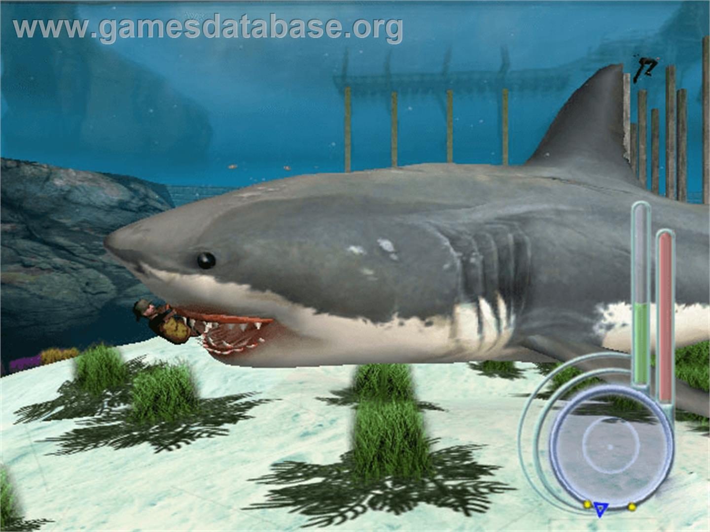 jaws unleashed microsoft xbox artwork in game