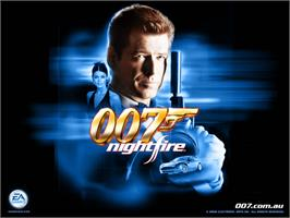 Title screen of 007: Nightfire on the Microsoft Xbox.