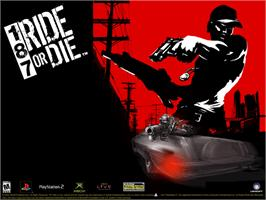 Title screen of 187: Ride or Die on the Microsoft Xbox.