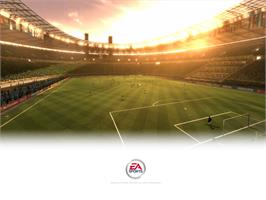 Title screen of 2002 FIFA World Cup on the Microsoft Xbox.