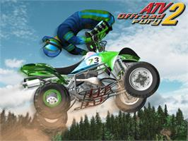 Title screen of ATV: Quad Power Racing 2 on the Microsoft Xbox.