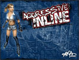 Title screen of Aggressive Inline on the Microsoft Xbox.