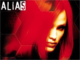 Title screen of Alias on the Microsoft Xbox.
