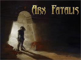 Title screen of Arx Fatalis on the Microsoft Xbox.