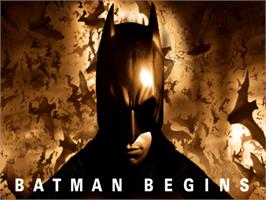 Title screen of Batman Begins on the Microsoft Xbox.