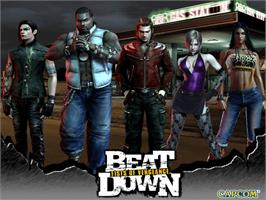 Title screen of Beat Down: Fists of Vengeance on the Microsoft Xbox.