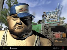 Title screen of Big Mutha Truckers on the Microsoft Xbox.