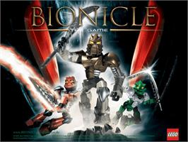 Title screen of Bionicle on the Microsoft Xbox.
