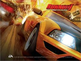 Title screen of Burnout Revenge on the Microsoft Xbox.