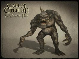 Title screen of Call of Cthulhu: Dark Corners of the Earth on the Microsoft Xbox.