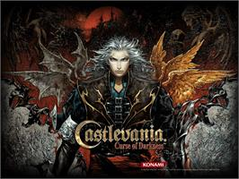 Title screen of Castlevania: Curse of Darkness on the Microsoft Xbox.