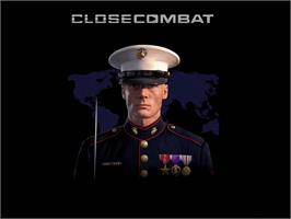 Title screen of Close Combat: First to Fight on the Microsoft Xbox.