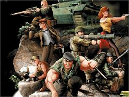 Title screen of Commandos 2: Men of Courage on the Microsoft Xbox.