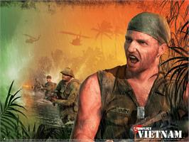 Title screen of Conflict: Vietnam on the Microsoft Xbox.