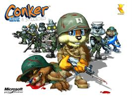 Title screen of Conker: Live & Reloaded on the Microsoft Xbox.