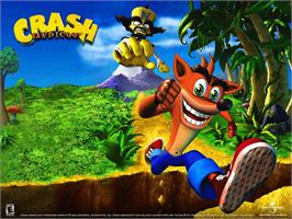 Title screen of Crash Bandicoot: The Wrath of Cortex on the Microsoft Xbox.