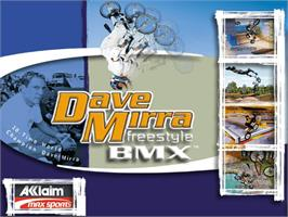 Title screen of Dave Mirra Freestyle BMX 2 on the Microsoft Xbox.