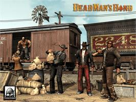 Title screen of Dead Man's Hand on the Microsoft Xbox.