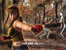 Title screen of Dead or Alive 3 on the Microsoft Xbox.