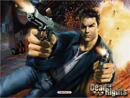 Title screen of Dead to Rights on the Microsoft Xbox.