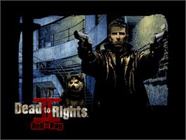 Title screen of Dead to Rights 2 on the Microsoft Xbox.