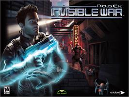 Title screen of Deus Ex: Invisible War on the Microsoft Xbox.