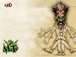 Title screen of Dr. Muto on the Microsoft Xbox.