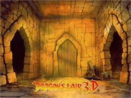 Title screen of Dragon's Lair 3D: Return to the Lair on the Microsoft Xbox.