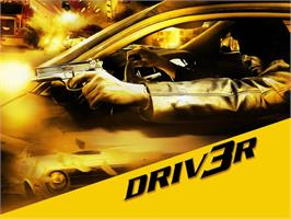 Title screen of Driv3r on the Microsoft Xbox.
