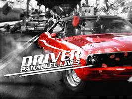 Title screen of Driver: Parallel Lines on the Microsoft Xbox.