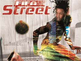Title screen of FIFA Street on the Microsoft Xbox.