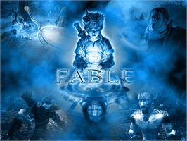 Title screen of Fable on the Microsoft Xbox.
