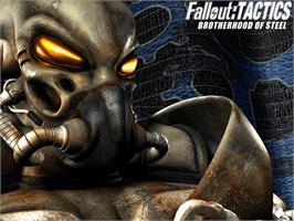 Title screen of Fallout: Brotherhood of Steel on the Microsoft Xbox.
