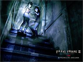 Title screen of Fatal Frame II: Crimson Butterfly on the Microsoft Xbox.