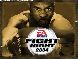 Title screen of Fight Night 2004 on the Microsoft Xbox.