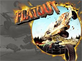 Title screen of FlatOut on the Microsoft Xbox.