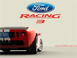 Title screen of Ford Racing 3 on the Microsoft Xbox.