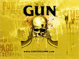 Title screen of GUN on the Microsoft Xbox.