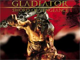 Title screen of Gladiator: Sword of Vengeance on the Microsoft Xbox.