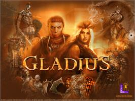 Title screen of Gladius on the Microsoft Xbox.