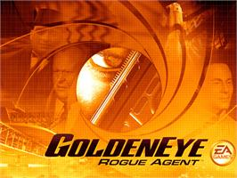 Title screen of GoldenEye: Rogue Agent on the Microsoft Xbox.