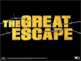 Title screen of Great Escape on the Microsoft Xbox.