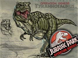 Title screen of Jurassic Park: Operation Genesis on the Microsoft Xbox.