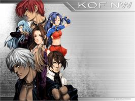 Title screen of King of Fighters: Neowave on the Microsoft Xbox.